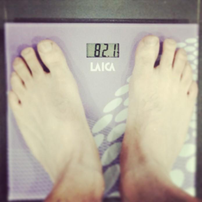 Peso de 81,9 kg al terminar la segunda fase del entrenamiento